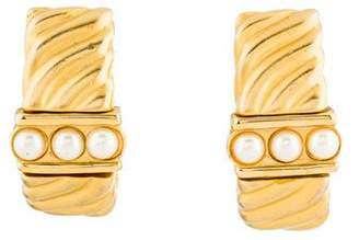 Givenchy Faux Pearl Clip-On Earrings