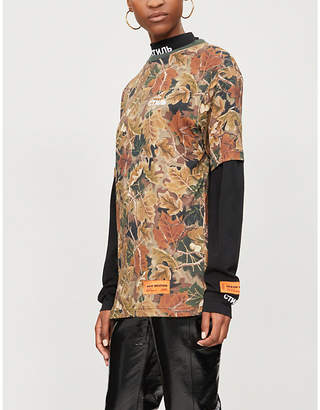 HERON PRESTON Camouflage-print cotton-jersey T-shirt