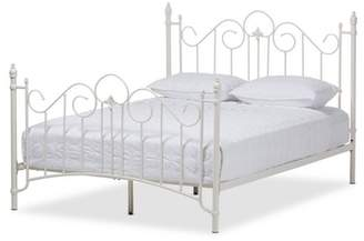 Baxton Studio Scarlett Vintage Industrial Finished Metal Platform Bed - Queen - White