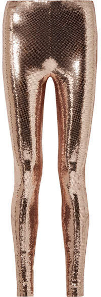 TOM FORD - Sequined Stretch-jersey Leggings - Blush