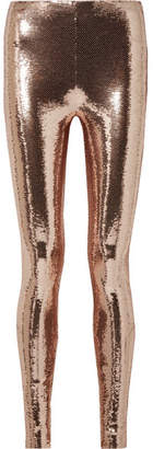Tom Ford Sequined Stretch-jersey Leggings - Blush