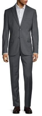 John Varvatos Notch Lapel Slim Wool Suit