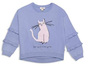 Kate Spade Girls' Cat Glasses Sweatshirt - Big Kid