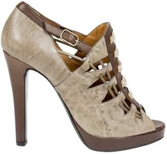 Givenchy Khaki Leather Heels