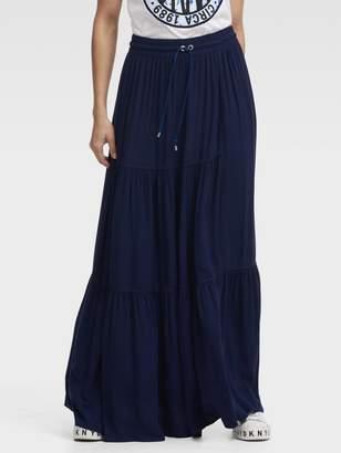 DKNY Tiered Maxi Skirt