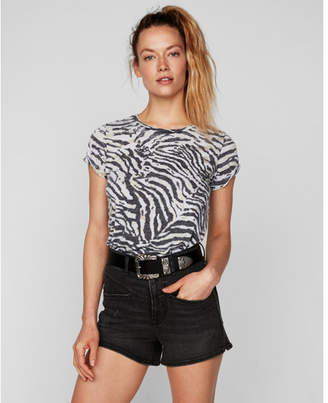 Express one eleven burnout zebra easy tee