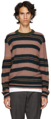 Marni Pink and Navy Striped Sweater