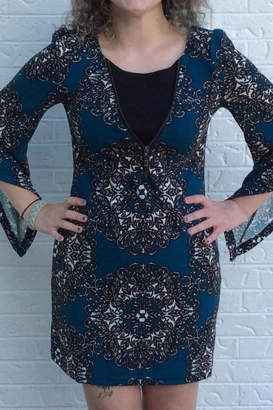 Aryeh Blue Fitted Dress