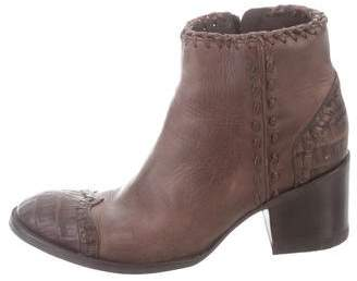Old Gringo Leather & Crocodile Ankle Boots
