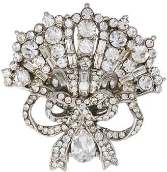 Loren Stazia Diamante fan ribbon brooch