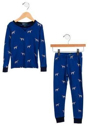 Polo Ralph Lauren Boys' Dog Print Pajama Set