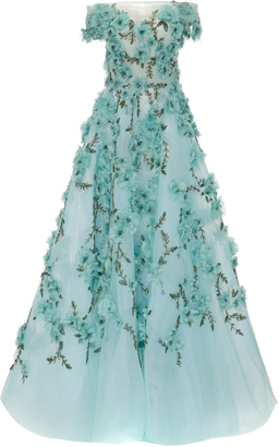 Marchesa Off The Shoulder Tulle Ball Gown $8,995 thestylecure.com