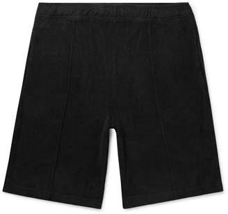 Stussy Cotton-Terry Drawstring Shorts - Men - Black