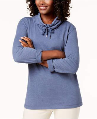Karen Scott Petite Funnel-Neck Sweatshirt