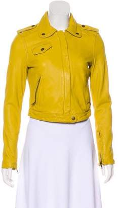 Current/Elliott Leather Biker Jacket