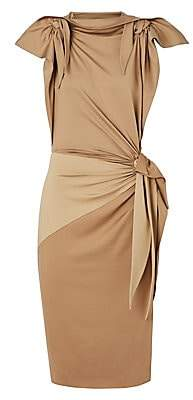 Burberry Women's Knotted Stretch-Silk Sheath Dress