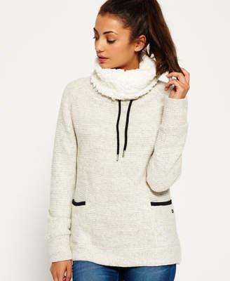 Superdry Cosy Borg Funnel Hoodie