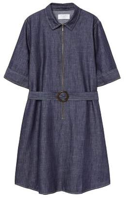 Violeta BY MANGO Zip denim dress