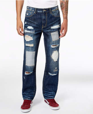 Lrg Men's Loosehead Slim-Fit Ripped Jeans