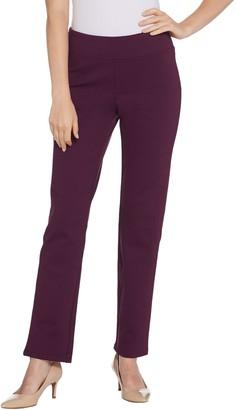 Denim & Co. Petite Ponte Smooth Waist Pull-on Pants