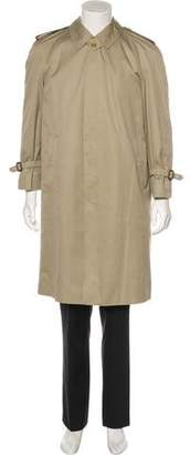 Burberry Vintage Twill House Check-Lined Short Trench Coat