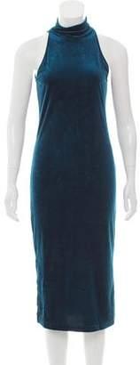 Torn By Ronny Kobo Velvet Midi Dress w/ Tags