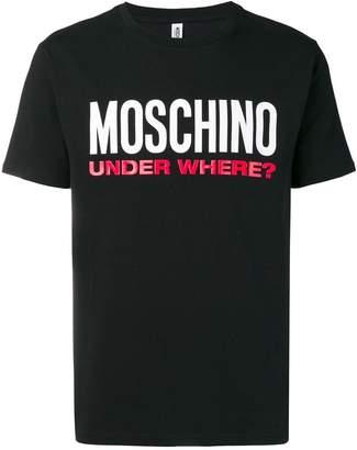 Moschino logo slogan T-shirt