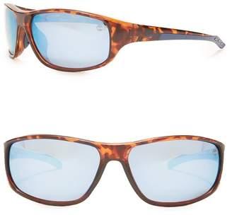Timberland Rectangular Injected Sunglasses, 65mm