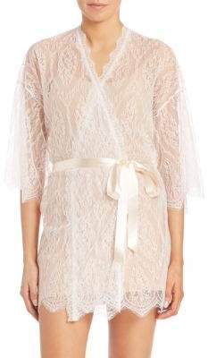 Hanky Panky Alexandra Three-Quarter Sleeve Lace Robe