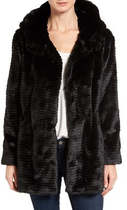 Women's Vince Camuto Hooded Faux Fur Coat $268 thestylecure.com