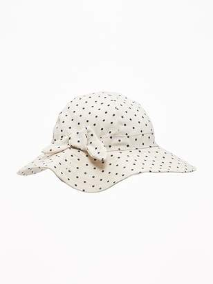Old Navy Polka-Dot Linen-Blend Sun Hat for Toddler Girls