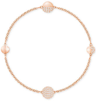 Swarovski Remix Collection Rose Gold-Tone Pave Sphere Magnetic Closure Bracelet