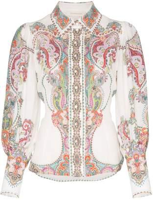 Zimmermann Ninety-Six balloon-sleeved paisley print blouse