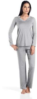 Hanro Women's Champagne Pajama Set Sleepwear,
