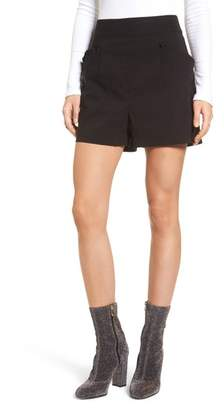 Leith Pleat Trim High Waist Shorts