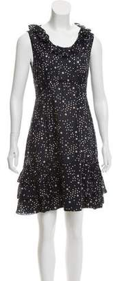 Marc by Marc Jacobs Ruffle-Accented Printed Dress