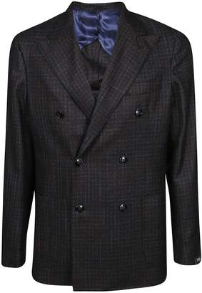 Barba Napoli Checked Double Breasted Blazer