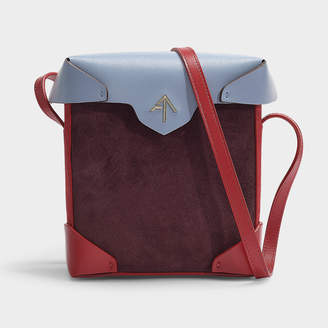 Atelier Manu Mini Pristine Combo Bag In Multicoloured Vegetable Tanned Calf Leather And Suede
