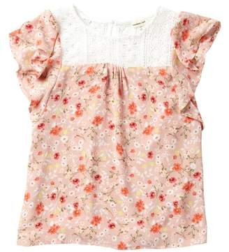 Couture Monteau Ruffle Floral Top (Big Girls)