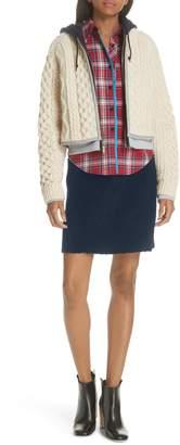 HARVEY FAIRCLOTH Mixed Plaid Flannel Blouse