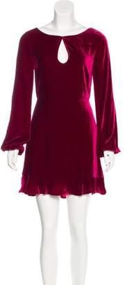 For Love & Lemons Velvet A-Line Dress
