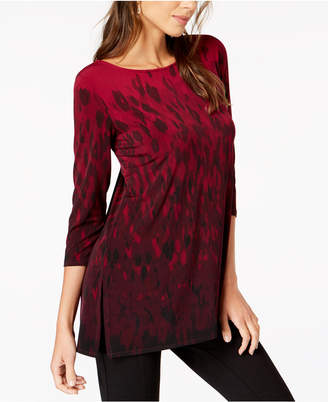 Alfani Printed Boat-Neck Tunic, Created for Macy's