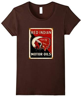 Red Indian Motor Oils Rusted Signs Vintage Oil Can T-shirt.