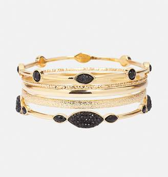 Avenue Black Diamond Bangle Set