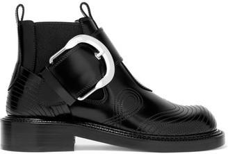 Maison Margiela - Leather Ankle Boots - Black $1,165 thestylecure.com