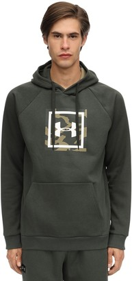 Under Armour Rival Printed Cotton Blend Hoodie