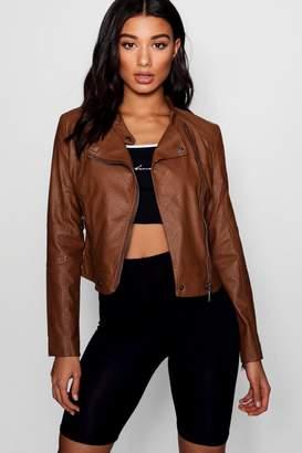 boohoo Erin Vegan Leather Biker Jacket