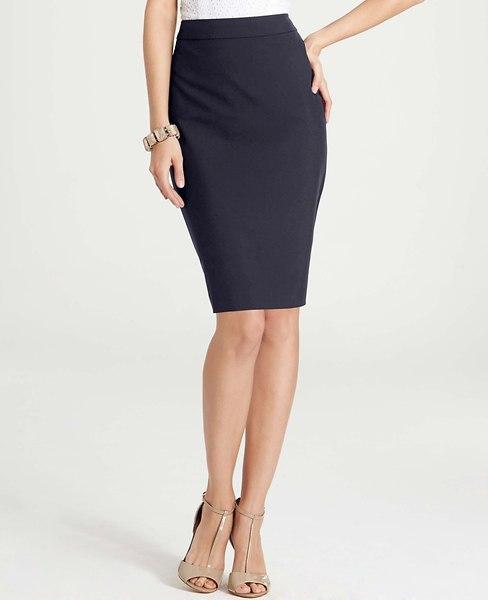 Ann Taylor All-Season Stretch High Waist Pencil Skirt