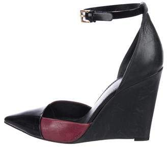 Tory Burch Ankle Strap Wedge Pumps
