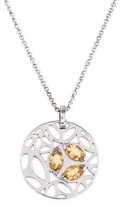 Di Modolo Citrine Medallion Pendant Necklace